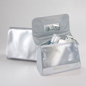 Shiny PU Leather Cosmetic Toiletry Makeup Beauty Bag