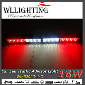 LED Warning Bar Light in Red White with Display Controller