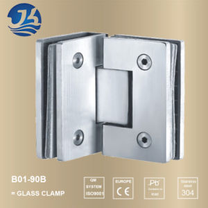 Shower Glass Door Stainless Steel Glass Railing Clamp (B01-90B)