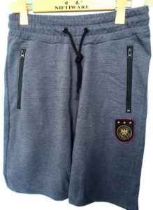 Eleven Mens Knitting Zip Pocket Sweatpants Fitted Jogger Shorts