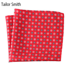 Luxury Silk Polyester Dots Flower Plaid Flower Printed Pocket Square Hanky Handkerchief (SH-023) pictures & photos