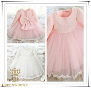 Long Sleeve Lovely Sweet Bride Flower Girl Dress, Factory Direct