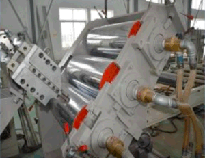 Double Station Screw Plastic Sheet Extrusion Line Extruder pictures & photos
