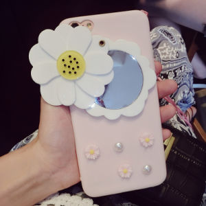 Fresh Daisy Flowers Mirror Phone Case for iPhone 7/7plus/X/8/8plus