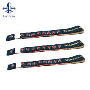 China Wholesale Custom Logo Printing Festival Woven Wristbands pictures & photos