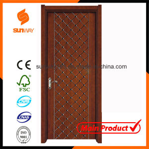 Hot Sale High Quality Painting Solid Wooden Door Sw-833 pictures & photos