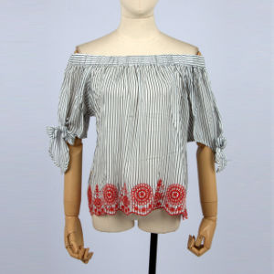 1bc85af40938d1 Hot Sell Women off Shoulder Tops and Blouses Middle Sleeve Embroidery  Designs for Blouse