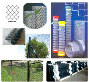 Diamond Hole Chain Link Fence of PVC Coated or Galvanized