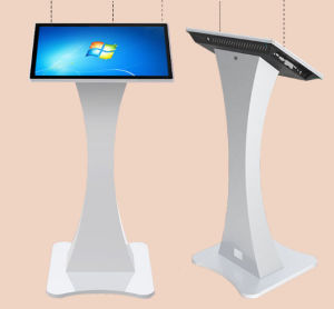 Advertising LCD Display Floor Standing 27 Inch Touch Screen Kiosk pictures & photos