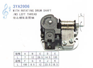 Standard 18-Note Music Movement with Rotating Drum Shaft (3YA2006) pictures & photos