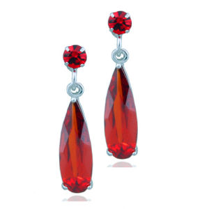 Fashion High End Red Diamond Long Hanging Earrings