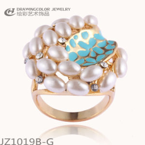 Beautiful Pearl Alloy Finger Ring (JZ1019B-G)