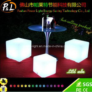 Waterproof Mood Lighting 60cm Illuminated Outdoor Cube Stool pictures & photos