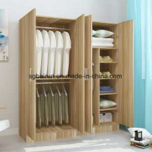 Knock-Down Wooden Colour MFC Wardrobe pictures & photos