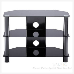 China Modern Black Tempered Glass Tv Stand Tv Cabinet China
