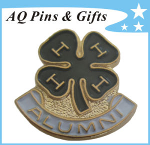 4h Clover 3D Metal Pin Badge for Alumni Pin in Soft Enamel (badge-119) pictures & photos