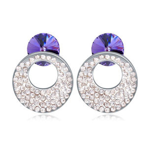 Cheap Women′s New Design Pave Crystal Stud Earrings