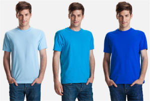 Man′s Round Neck Blank Comfortable Multicolor T-Shirt for Wholesale pictures & photos