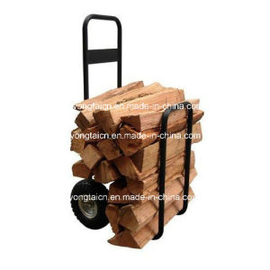 2-Wheeled Log Firewood Cart with Canopy Cover pictures & photos