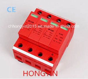 Hot Sale 4 Poles 275/320/385/440V 20ka IP65 Power Electrical Surge Protector