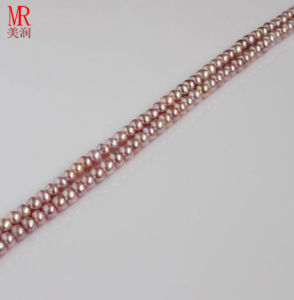 3-4mm Freshwater Loose Pearl Beads Strand, Button Round pictures & photos