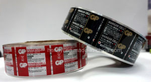Rotogravure Printing Label for Battery pictures & photos