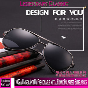 76d44ce5b2 1002A Unisex Anti-UV Fashionable Metal Frame Polarized Sunglasses