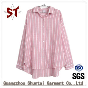 Women Casual Striped Polo Shirts With Long Sleeve