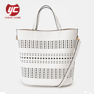 f08ef406e8103 Good Quality Fashion Ladies Designer Handbag Perforated Bucket Bag Wholesale