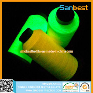 Polyester Embroidery Thread 120d/2, 5000yards Polyester Glow- in-The- Dark Embroidery Thread