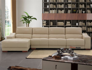 Living Room Modern L Shaped Leather Recliner Sofa