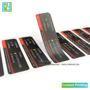 Custom Printing Black Thicker PVC Frosted Finishing Battery Caution Label