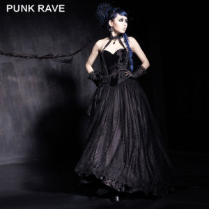Top Sale Luxury Tight Sexy Gothic Palace Long Dress (Q-184)