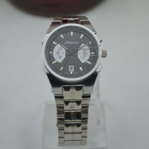 Stainless Steel Men Wristwatch Japan Quartz Sports Watch (abda16)