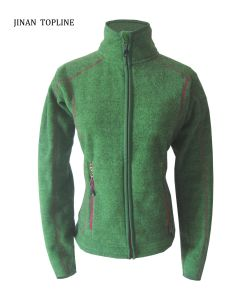 Women New Style Knitted Polar Fleece Casual Jacket with Long Sleeve and Inner Pockets pictures & photos