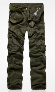 Cotton Soft Sueded Brand Multi Pocket Cargo Pants for Men pictures & photos
