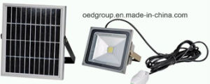 30W Manual Induction Lamp with Solar Panel LED Flood Light pictures & photos
