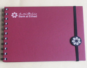 Bank Customized Plastic Spiral Business Notebook (AC-027)