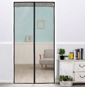 Automatically Closing Fly Screen Door Mosquito Insect