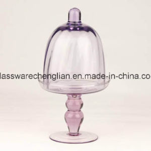 Glass Cake Plate with Dome (P-001) pictures & photos