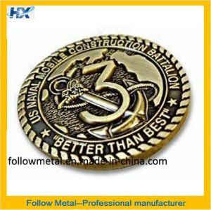Customized Collection Coin, Zinc Alloy with Decoration for Gift