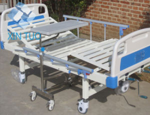 Wholesale Medical Equipment 3 Crank Hydraulic Manual Hospital Bed pictures & photos