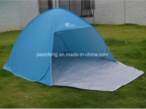 Portable Silver Coated Waterproof 2-3 Person Pop up Beach Tent