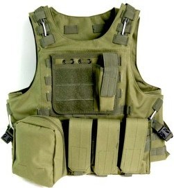 Green Military Molle Airsoft Vest, Paintball Combat Soft Army Tactical Vest pictures & photos