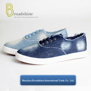 China Washed Jean Canvas Shoes for