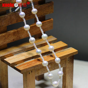 Fashion Latest Small Natural Freshwater Round Pearls Necklace Jewelry (E130093) pictures & photos