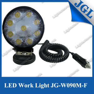 "27W Magnet LED Driving Light Work Lamp 4"" Offroad 4X4"