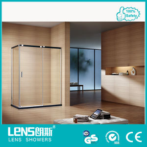 Rectangle 10mm Tempered Glass Hinge Door Stainless Steel Shower Room Damrey E31