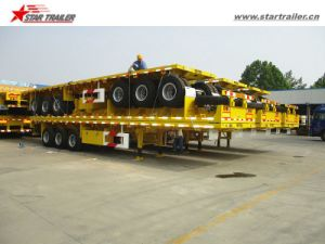 3axles Flatbed Utility Trailer with Twist Locks Optional pictures & photos