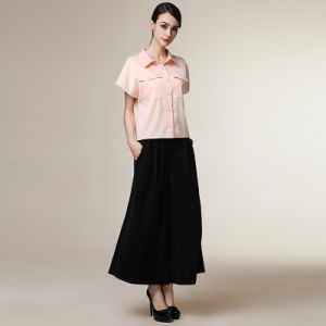 Fancy Design Formal Dress Shirt Short Sleeve for Women pictures & photos